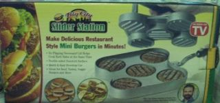 SEEN ON TV BIG CITY SLIDER STATION MAKER MAKE MINI BURGERS SLIDERS NEW