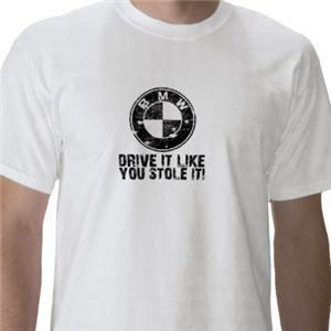 BMW Vintage Look Mens T Shirt Retro Funny Slogan Car