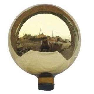 10 Mirrored Gold Hand Glass Garden Gazing Globe Ball RSR8104