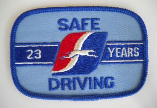 Vintage Greyhound Bus Driver Patch Cap Uniform Shirt 23 Years Safe