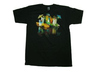 Burton Mens T Shirt Black Margarita Drinks Lei Tee Snowboard Size