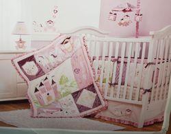 Crib Bedding Set Rapunzel 4 Piece Set Kids Line Princess Pink