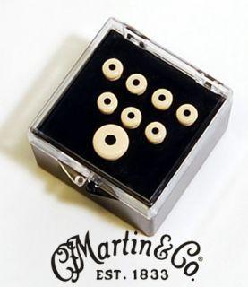Martin Bridge End Pin Set White w Black Dot 18APP28