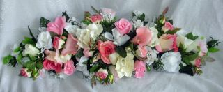 Gorgeous Swag Pink Centerpiece Silk Wedding Flowers Arch Decor Callas