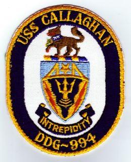 uss callaghan ddg 994 u s navy ship patch uss callaghan ddg 994 u s