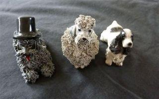 Vintage Jane Callender 2 Dogs Poodle 1950 Figurine Pottery Ceramic