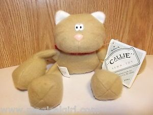 Vintage 80s Sewn Toy Callie The Cat Plush