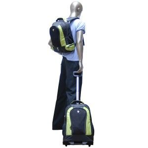 CalPak RBP016 Diplomat 21 Rolling Backpack /w 17 Detachable Backpack