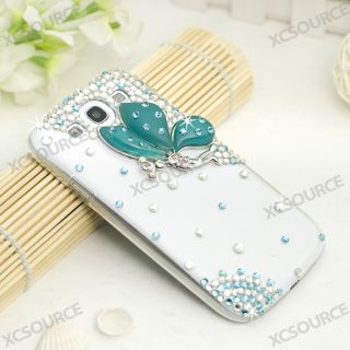 Handmade 3D butterfly Bling hard Case for Samsung Galaxy S3 III I9300