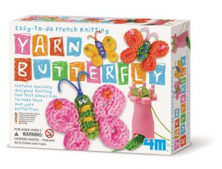 Childrens French Knitting Yarn Butterfly Easy to do Kit