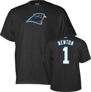 Cam Newton Carolina Panthers Black Reebok Name Number T Shirt