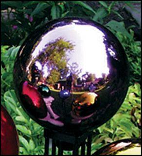 RSR8103 10 Mauve Mirrored Glass Garden Gazing Ball Globe