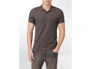 Calvin Klein Mens Body Slim Fit Short Sleeve Pique Polo