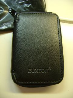 buxton Black Leather Coin Sorter Change Purse Wallet Organizer Rare