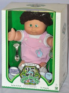 Cabbage Patch Kids 25th Anniversary Brown Hair with Green Eyes Doll