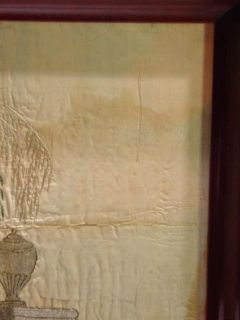 Antique Folk Art Schoolgirl c1810 Silk Embroidery Mourning Picture