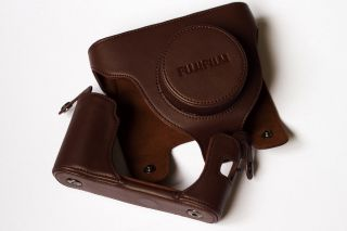 Camera Leather Case Bag Pouch Strap for Fujifilm LX X100 FinePix x10