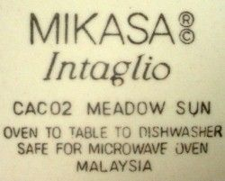 Mikasa China Meadow Sun CAC02 Chop Plate Round Platter