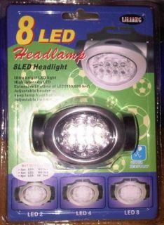 Lampada 8 LED Da Fronte per Caccia Pesca Camping