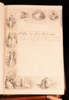 C1850 2 Vol The Family Devotional Bible Old and New Testaments Matthew