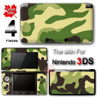 Camouflage Skin Vinyl Sticker Cover for Nintendo 3DS