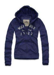 Hollister Logo Sweatshirt Hoodie Jacket L Large
