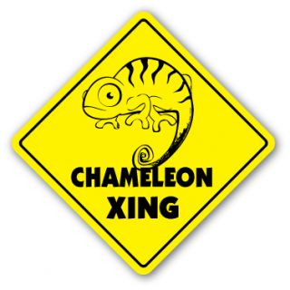 Chameleon Crossing Sign Xing Gift Novelty Lizard Supplies Cage Heat
