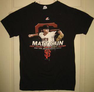 SF Giants Shirt s Matt Cain 1st Perfect Game San Francisco MLB