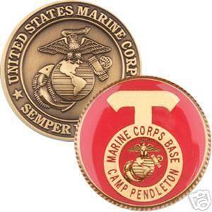 Camp Pendleton Marine Corps Base Challenge Coin USMC