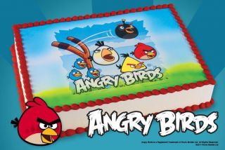 Angry Birds Edible Image Icing Cake Cupcake Topper Look