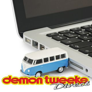 4GB USB Memory Stick VW Camper Van Model Car, In Blue   Ideal Gift