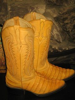 CALEXICO MEXICAN ALLIGATOR LEATHER COWBOY WESTERN GEORGOUS BOOTS 8