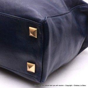 Michael Kors Calista Convertible Large Satchel Bag $428 Indigo