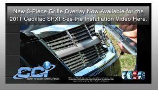 Cadillac SRX Chrome Grille Overlay 3 Piece Kit Iwcgi 106 Trim 2011