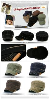 Mens Cotton Cadet Military Ball Cap Visor Hat Unisex Hats 507