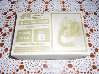 Evirstar Defense Products Child Gas Mask Model PDF D (size S)