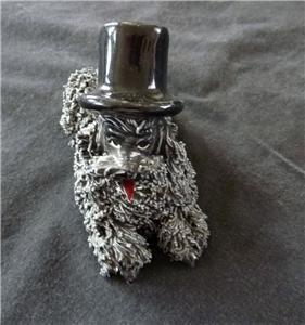 Vintage Jane Callender 2 Dogs Poodle 1950 Figurine ceramic, + cocker