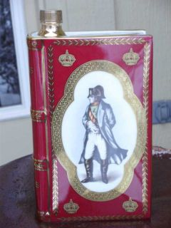 Camus Napoleon 1769 1969 Limoges Book Cognac Red Bottle
