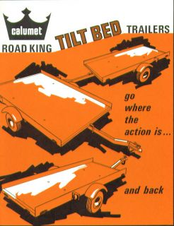 Calumet Road King Tilt Bed Trailer Catalog 1969