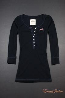 Hollister by Abercrombie Womens Calabasas Button Tee T Shirt XS