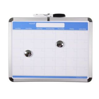 "Magnetic Dry Erase Calendar Board 11""x14"" with Marker Magnets 3M"
