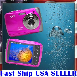 SVP Underwater 18MP Max Pink Digital Camera Camcorder Waterproof Brand