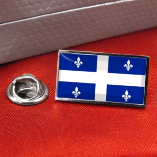 Quebec Province Canada Flag Lapel Pin Badge and Tiepin