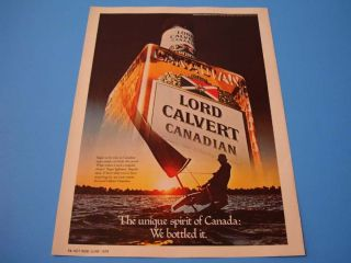 1979 Lord Calvert Whiskey with Sail Alcohol Magazine Ad