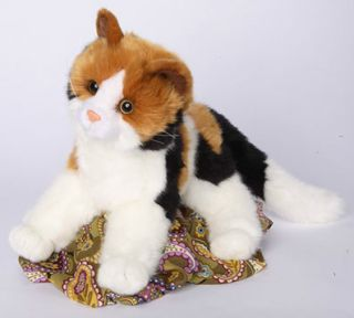 Douglas allspice plush 16 CALICO stuffed animal CAT toy brown black