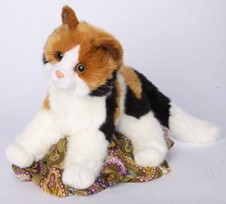 Douglas allspice plush 16 CALICO stuffed animal CAT toy brown black