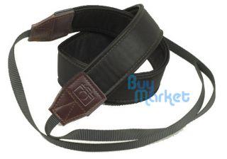DSLR Camera High Quality Soft Leather Black Shoulder Neck Belt Strap