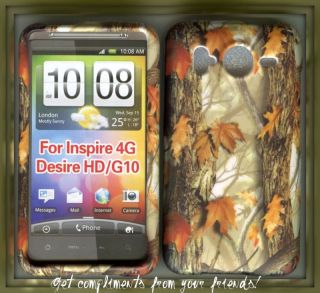 HTC Inspire 4G at T Hard Rubberized Cover Case Camo Yel