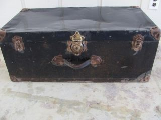 Antique Vintage Trunk with Excelsior Lock 1297