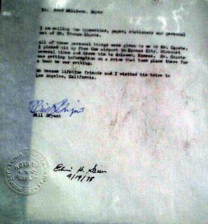 Truman Capote Personal Gray Fedora Stetson Hat Notarized Letter in